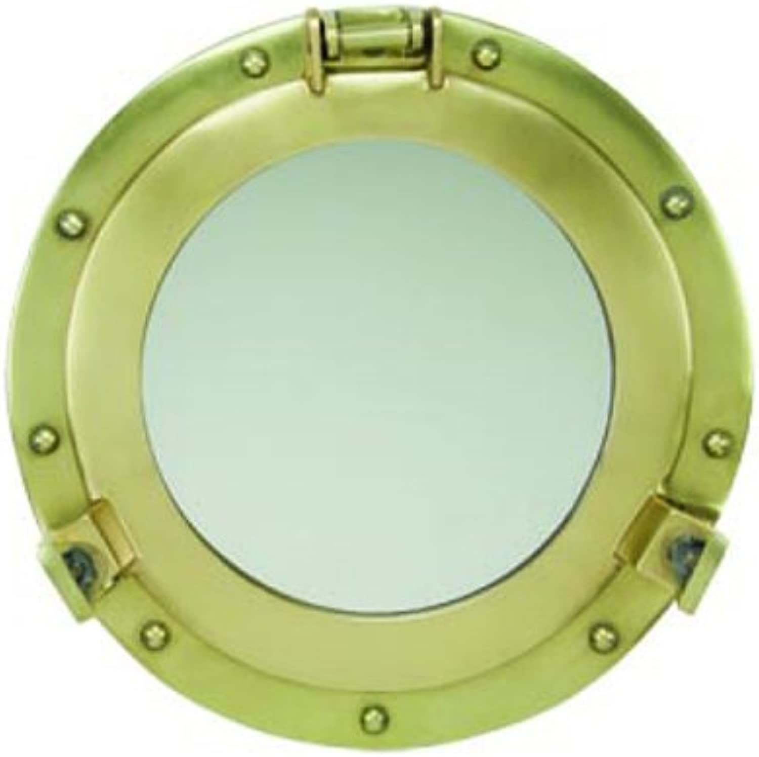 17  Antique Brass Porthole Mirror by Moby Dick