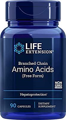 Life Extension Branched Chain Amino Acids (Free Form), 90 Capsules