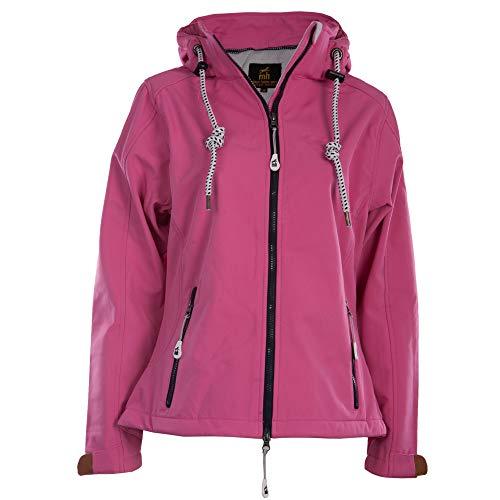 Michael Heinen Softshelljacke Damen Wasserdicht - Pink 52 - Regenjacke Mit Kapuze Atmungsaktiv