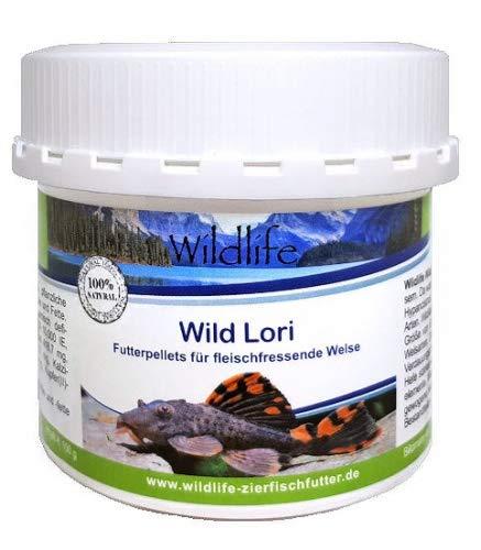 Wildlife Wild Lori 150g (250 ml - Natürliche Futterpellets für fleischfressende Welse, 150 g
