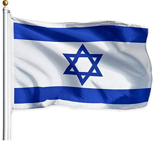 G128 – Israel (Israeli) Flag   3x5 feet   Printed – Vibrant Colors, Brass Grommets, Quality Polyester