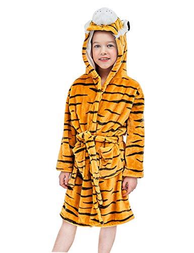 Happy Cherry - kinderbadjas fleece badhanddoek met capuchon zacht pluizig badjas meisjes badyimmer zwembad cartoon karikatuur - 3-8 jarhe/95-130 cm