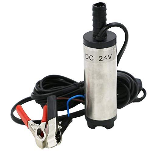 AQzxdc Bomba de Transferencia de Aceite de Agua de Combustible Diesel de Aluminio de 12V, Interruptor de Encendido/Apagado Sumergible, Bomba de Agua de Diesel