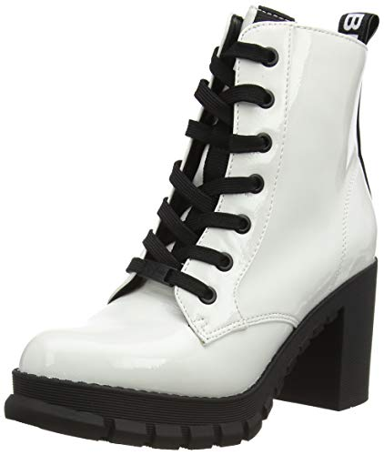Buffalo Damen MAJESTY Mode-Stiefel, White, 38 EU