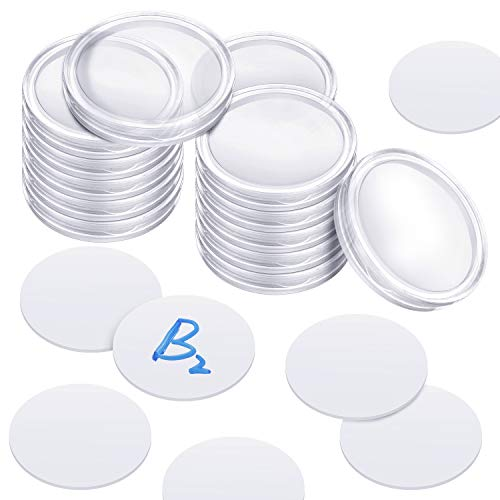Ntag215 NFC Tags Coin 1 Inch (25mm) Compatible with TagMo Amiibo Blank Ntag215 NFC Cards with Coin Capsules Holder (100)