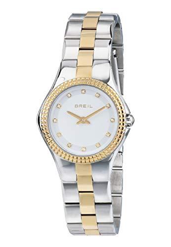 Orologio BREIL donna CURVY quadrante bianco e bracciale in acciaio silver-gold, movimento SOLO TEMPO - 2H QUARZO