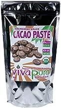 Vivapura Superfoods Organic Cacao Paste, 16 oz - Ceremonial Grade   Criollo   Raw   Vegan   Keto