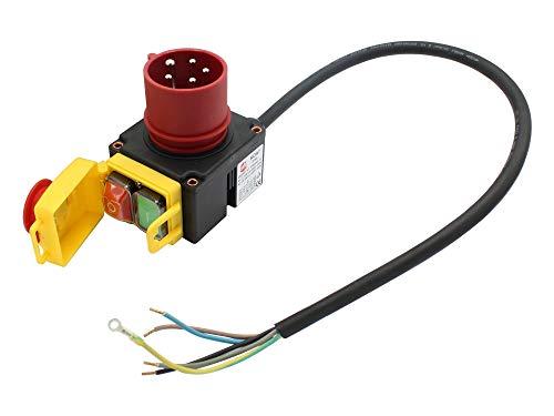 SECURA Schalter mit CEE-Stecker 400V kompatibel mit Erba 16028 Holzspalter