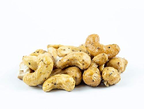 Cashewkerne Tellicherry Pfeffer | Nüsse | Kerne | geröstet | Jumbo Size | Cashewnüsse Pfeffer | Premium Qualität, 500 g