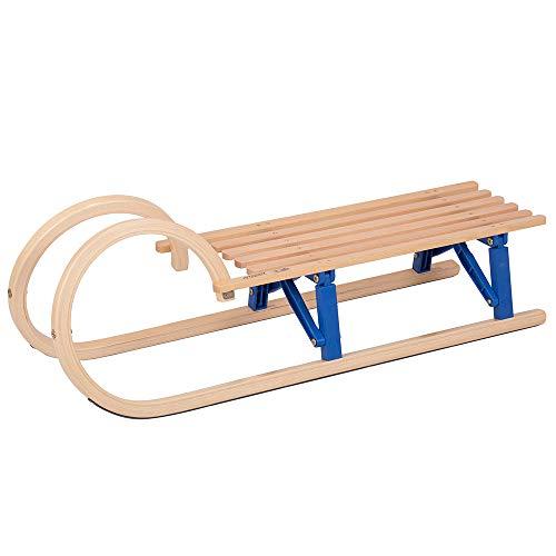 Vispronet Children's Wooden Sled – Solid Wood...