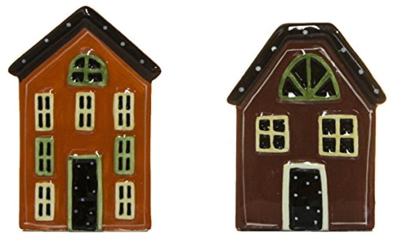 Country Living House Shaped Ceramic Salt & Pepper Shaker Set