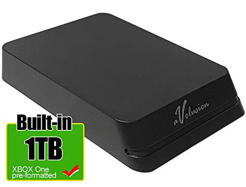 Avolusion 1TB USB 3.0 Portable Slim External Gaming Hard Drive (for Xbox One HDD Upgrade, Pre-Formatted)