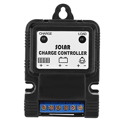 Controlador de cargador solar, PWM 6V/12V 3A Regulador de controlador de cargador de panel solar portátil con indicador LED Nuevo