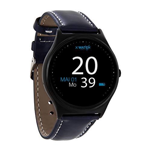 X-WATCH QIN XW PRIME II Navy blue – ultra slim Android und iOS Smartwatch – elegante Herren Smartwach