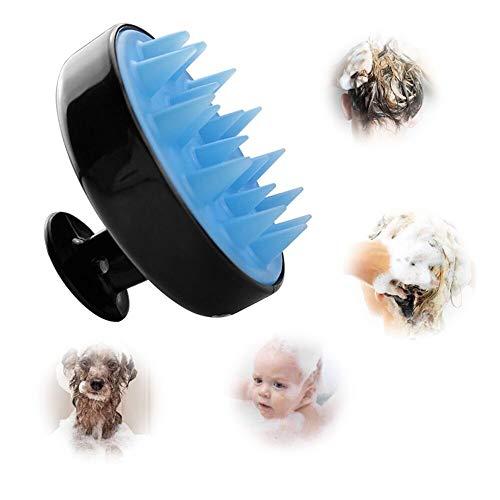Ealicere Shampoo Haarbürste Reinigt Haarwurzeln,Kopfmassagegerät Peeling und Schuppen,Silikon Kopfhaut Massager Haarbürste für Männer, Frauen, Kinder und Haustiere geeignet