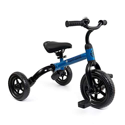 YGJT Triciclo Bebe Bicicleta Niño 2-4 Años Correpasillos de Equilibrio Infantil 18 a 48 Meses 3 en 1 Triciclos Bebes con Pedales Andador para Niños Regalos Originales Niña Cumpleaños