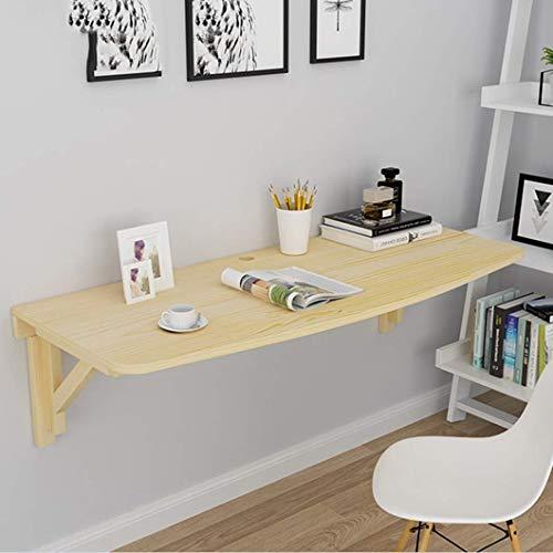 Amiiaz Wandtisch klappbar Wand montierter Schreibtisch Computertisch hängender platzsparender Küchentisch Bürotisch Holztische für Büro Arbeitszimmer-120x50cm/47x20in