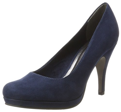 Tamaris Damen 22407 Pumps, Blau (Navy), 35 EU