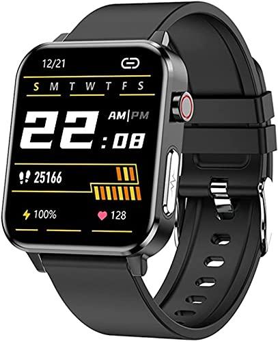 ALXLX Reloj Deportivo 1.7 Pulgadas Smartwatch Medición De Temperatura Reloj Inteligente Monitoreo De Salud Podómetro Recordatorio De Llamadas Unisex E86, C