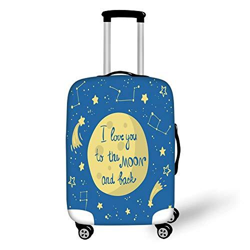 Reizen Bagage Cover Koffer Beschermer, Landschap, Zwembad door Het Strand met Seizoensgebonden Eden Hete Zonnige Vochtige Kustbaai Fotografie, Groen Blauw, voor Reizen