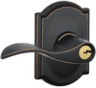 INGERSOLL-RAND F51 V Acc 716 CAM Keyed Metal Wave Shape Entry Lever Lockset, Aged Bronze