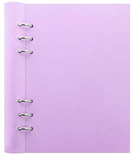 クリップブック レザー調 バインダー A5 ファイロファックス filofax バインダー システム手帳 ダイアリー ノート (パープル) [並行輸入品]