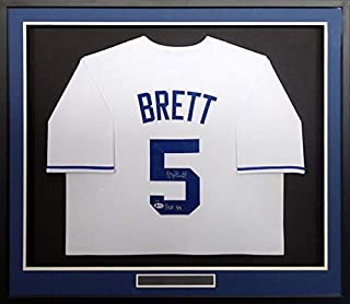0d0d8578601 Kansas City Royals George Brett Autographed Framed White Jersey