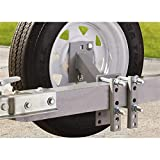 Guide Gear Trailer Spare Tire Mount Carrier, Heavy-Duty Welded Steel, for 4 and 5 -Lug Wheels