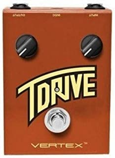 Vertex Effects T Drive Overdrive Guitar Effects Pedal, Sonic Recreation of the Trainwreck Express Amplifier, Guitar and Bass Overdrive Pedal, 4.6