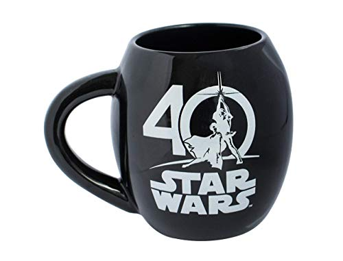 Star Wars 21829 40 Years - Taza ovalada de cerámica (532 ml, 10 x 10 x 11 cm, 11 cm), diseño de Star Wars
