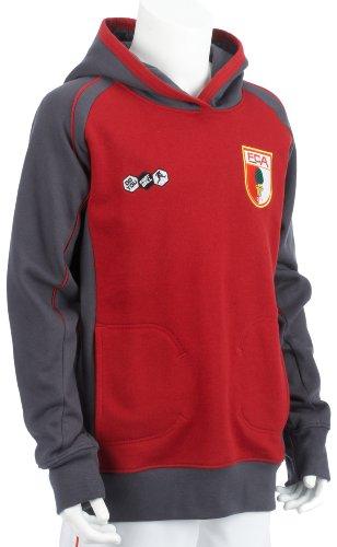 Do You Football Kinder Kaputzenpullover 09/10 FC Augsburg, Dark Grey, 152