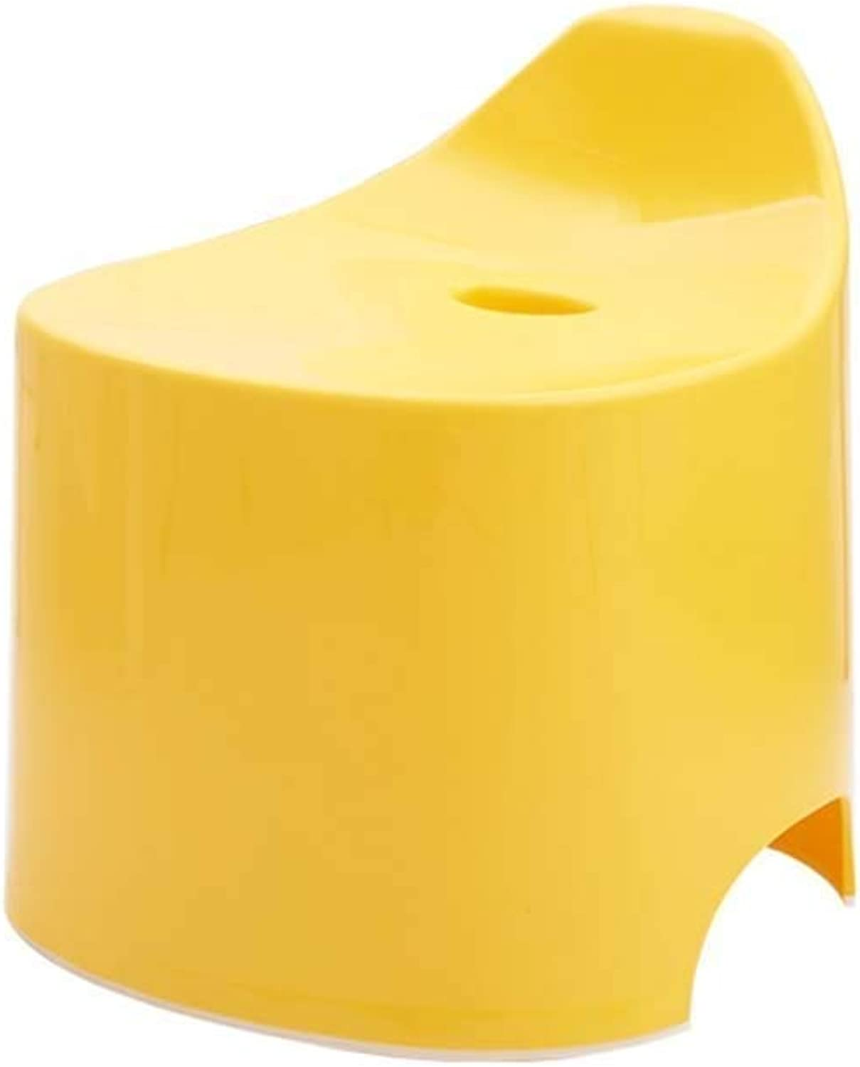 Footstool, Bathroom Anti-Slip Stool, Creative Small Bench, Candy color Multifunctional Storage Footstool (color   Yellow)