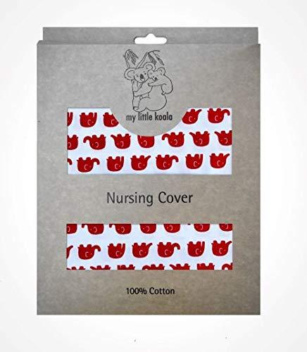 Couverture d'allaitement, tablier d'allaitement Écharpe Cape- Tissu en coton britannique- Fait en Europe- Une courroie ajustable pour le cou et une baleine rigide– Nursing Cover Scarf- MY LITTLE KOALA