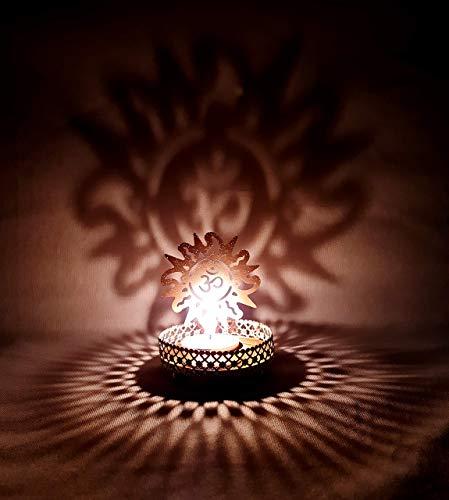 Shadow OM & Sun Tea Light Candle Holder for Home Decor Candle Holder dhoop Holder