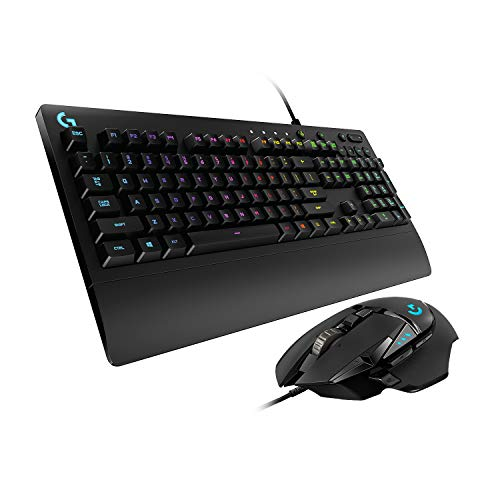 Logitech G502 Hero High-Performance Gaming Maus, Hero 16000 DPI Optischer Sensor + G213 Prodigy Gaming-Tastatur, RGB-Beleuchtung
