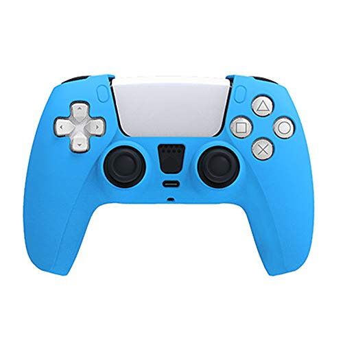 2 Stück Ps5-Controller-Skins, rutschfeste Silikonhaut Ps5-Controller-Griffabdeckungen, hautfreundliche weiche Schutzhülle für Playstation 5 Staubdichter, haltbarer Controller-Griff-Blue