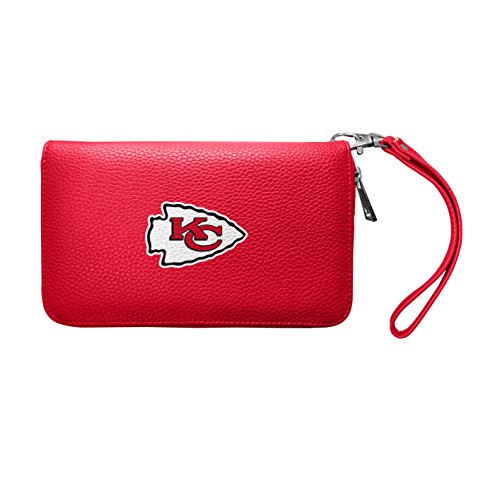 Littlearth NFL Kansas City Chiefs Zip Organizer Pebble WalletLight Red75quot x 4quotx 1quot