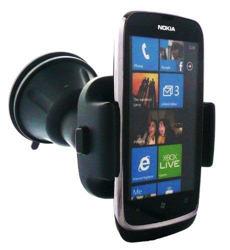 Emartbuy® Original Nokia CR-115 Car Cradle passend für Nokia Lumia 610 + Schutzfolie Kompatibel Micro USB KFZ-Ladegerät