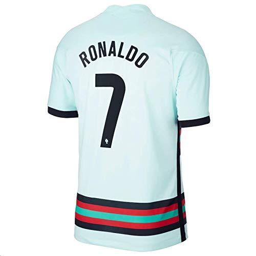 LISIMKEM 2020-2021 Men's Away Soccer Jersey/Short Colour White (Portugal Ronaldo #7 (S))