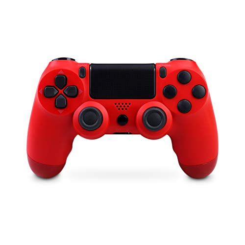 Controller Wireless per PS4, Bluetooth Gamepad Joystick con 6 Assi Dual Shock per Playstation 4/PS4 Slim/PS4 Pro (rosso)