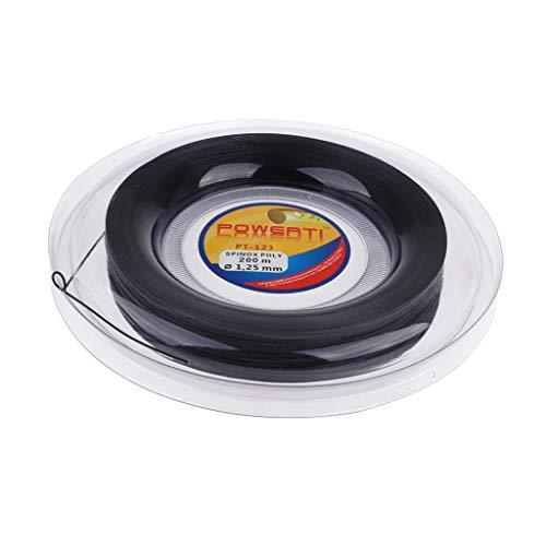 Toygogo - Cuerda para Raquetas de Tenis (200 m), Negro