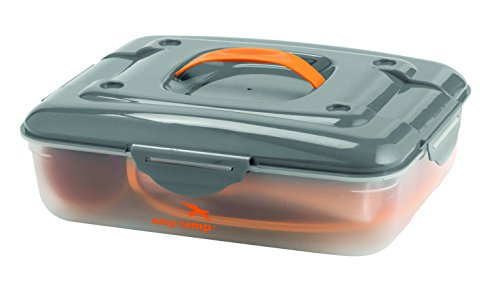 Easy Camp Cerf Picknick Box für 4 Personen Campingküche, Orange, One Size