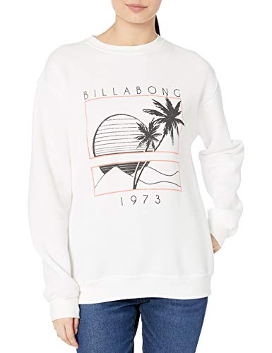BILLABONG Damen Graphic Crew Neck Sweatshirt, Salzkristall, X-Small