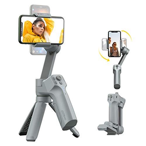 MOZA Mini-MX Estabilizador de 3 Ejes para Smartphones Vlog Youtube grabación de vídeo en Vivo Plegable, Soporte de Gimbal, Control Nativo de la cámara