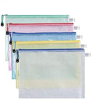 A4 Zipper Plastic Wallets, Document Files Folders, Zippered Waterproof PVC Bags, Plastic Zip Lock Envelopes for Files Docu...