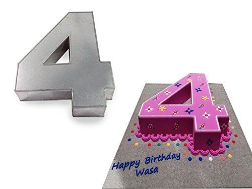 Professional Small Number Four 4 Wedding Birthday Anniversary Cake Baking Pan / Tin 10' X 8'