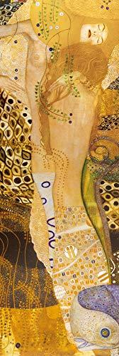 1art1 Gustav Klimt - Serpientes De Agua, 1904–1907 Póster Impresión Artística (158 x 53cm)