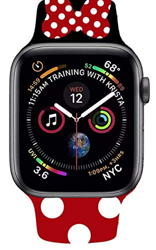 OKTANS Cartoon Mouse Bands for Apple Watch   38mm   40mm   Sport Band   IWatch   Cartoons   for Series 5/4/3/2/1   Red dots