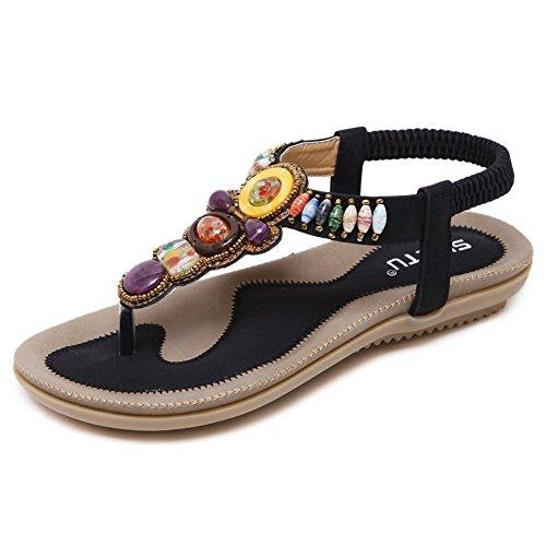 A 1 Bangle009 Bracelet de Cheville pour Femme Boh/ème Rond de mer Tissage Plage Pied Bijoux Yoga