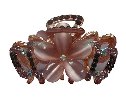 Medium Small Crystal Jaw Clip with Beads and Crystals CI86410-1448purple by Bella